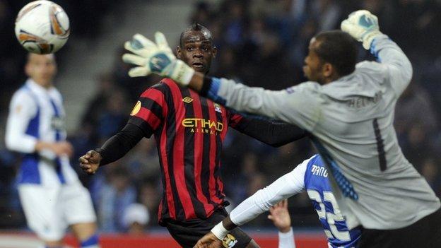 Manchester City take on Porto