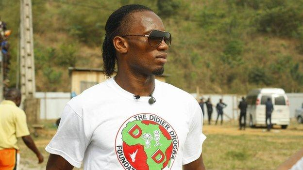 Didier Drogba in Ivory Coast after losing the final of the Africa Cup of Nations