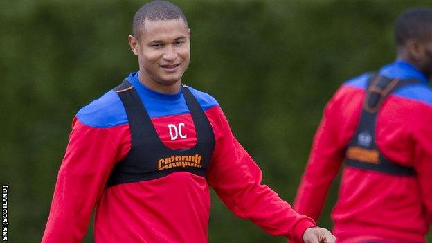 Daniel Cousin has been training with Rangers all week