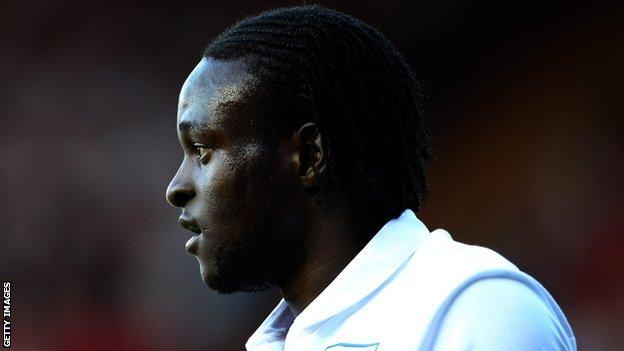 Victor Moses representing England at youth level
