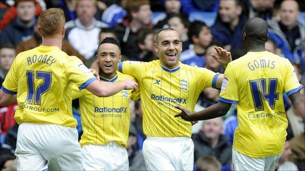 Birmingham celebrate their goal