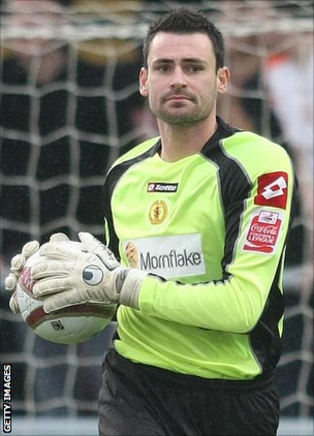 Crewe Alexandra goalkeeper Steve Phillips