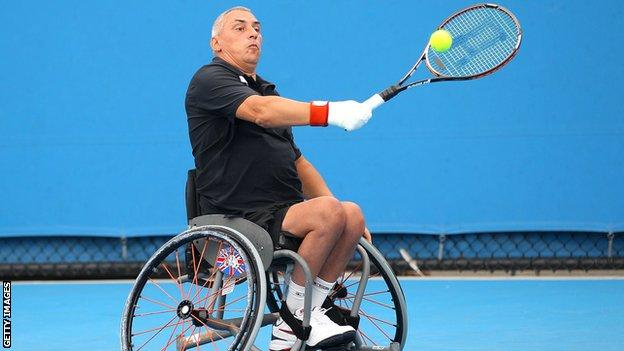 Britain's Peter Norfolk is one of the world's leading wheelchair tennis stars