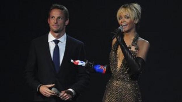 Jenson Button and Rihanna