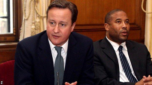 David Cameron with John Barnes