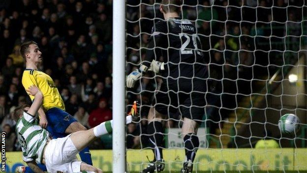 Smith was beaten twice at Celtic Park but produced a string of saves