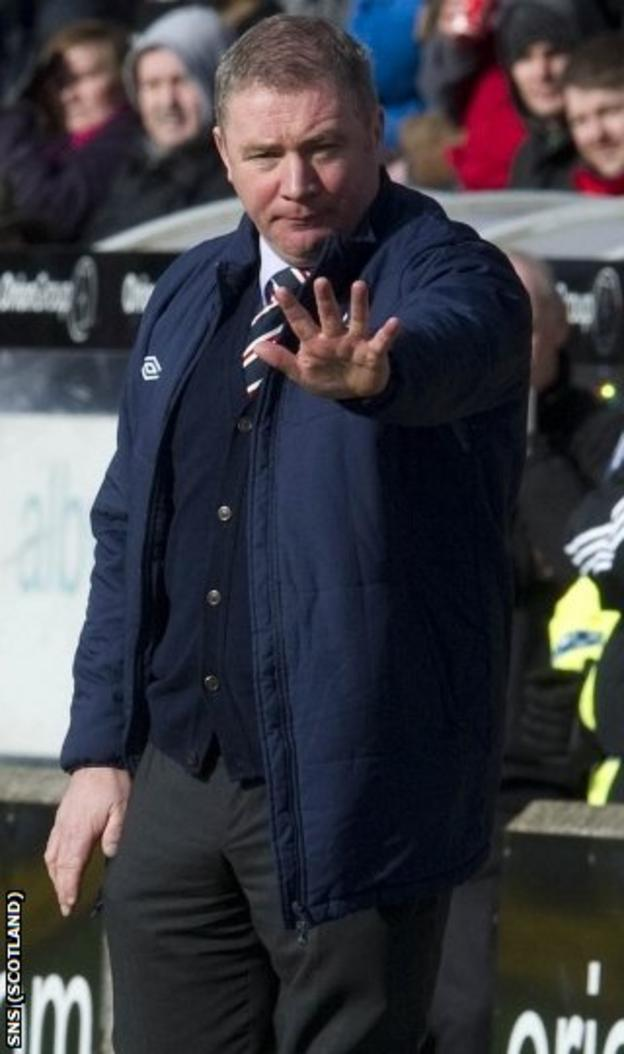 McCoist was delighted with his side's four goals in Inverness