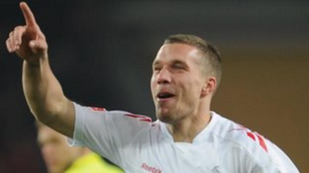 Cologne striker Lukas Podolski