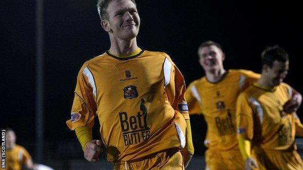 Scott Agnew scored for Dumbarton