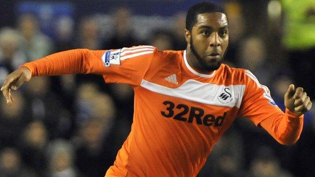 Swansea City midfielder Kemy Agustien