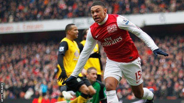 Alex Oxlade-Chamberlain has scored four goals in 16 Arsenal appearances