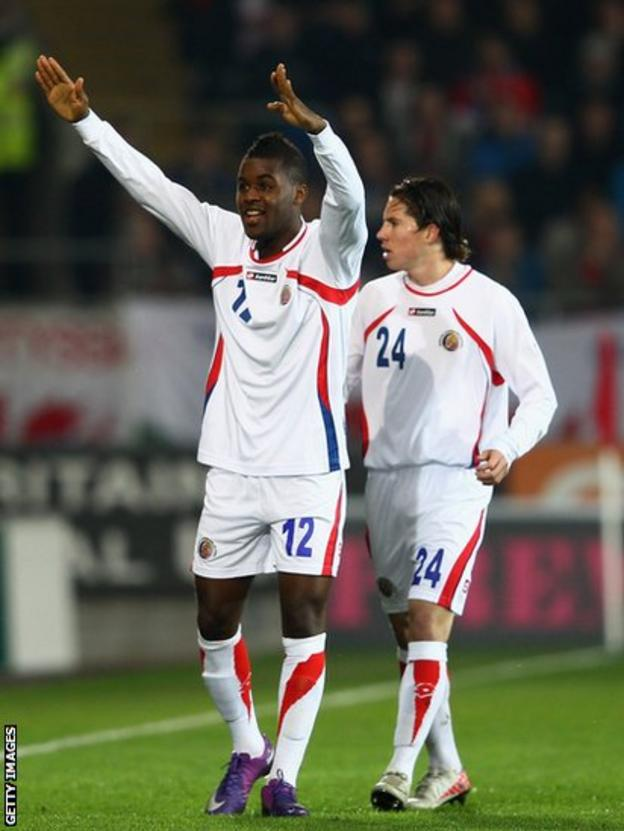 Costa Rica striker Joel Campbell celebrates his winner
