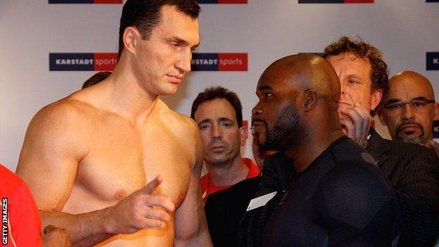 Wladimir Klitschko and Jean-Marc Mormeck