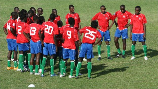 The Gambia football team