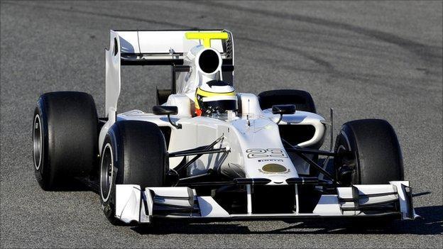 HRT Formula One driver Pedro de la Rosa of Spain