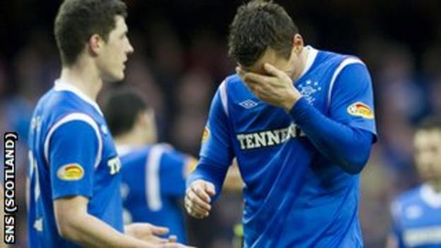Dejection for Rangers' Lee McCulloch