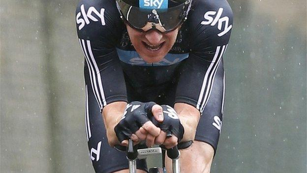 Bradley Wiggins in the Paris-Nice race