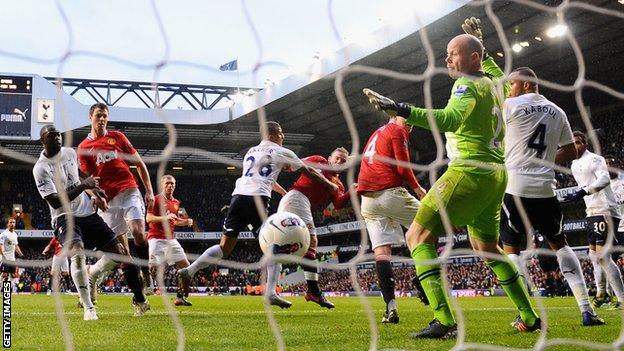 Wayne Rooney finds the net with a header