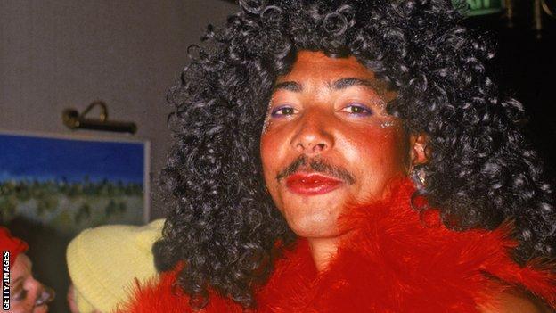 Former England seamer Phil DeFreitas, dressed as Diana Ross