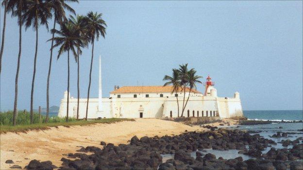 Saint Sebastian Fort in Sao Tome Town on the island of Sao Tome and Principe
