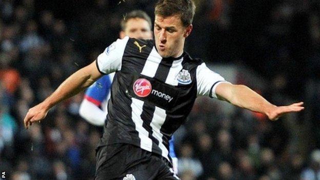Newcastle United's Ryan Taylor