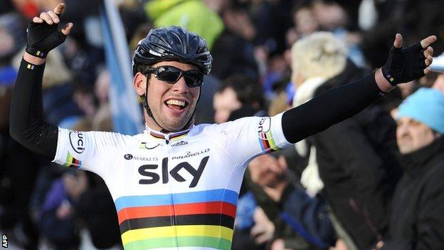 Mark Cavendish is celebrating his fourth victory of the season after winning the second stage of the Tirreno-Adriatico.