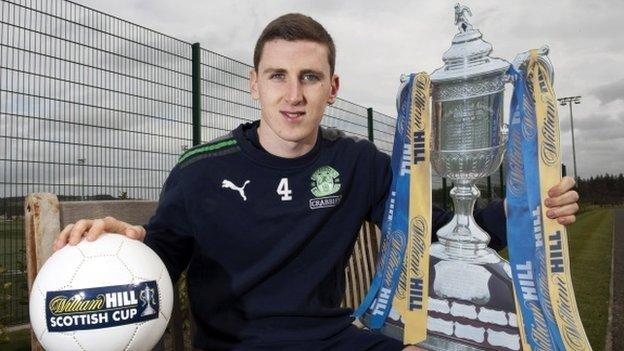 Hanlon will next be in action for Hibs against Ayr in the Scottish Cup