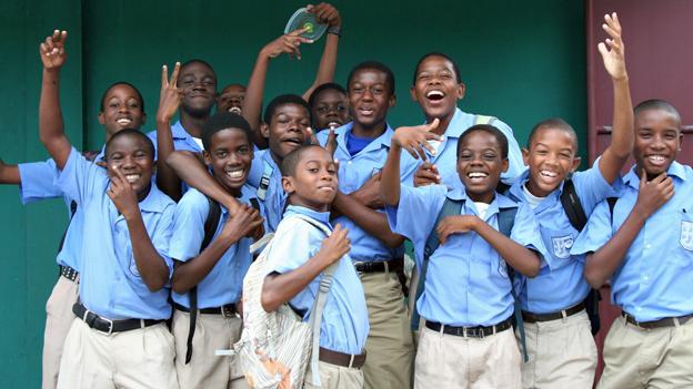 Pupils from Belmont Boys School