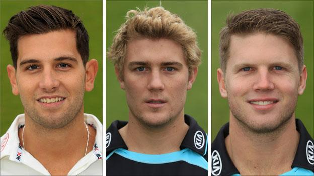 Jade Dernbach, Rory Hamilton-Brown and Stuart Meaker