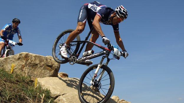 Olympic mountain bike champion Julien Absalon