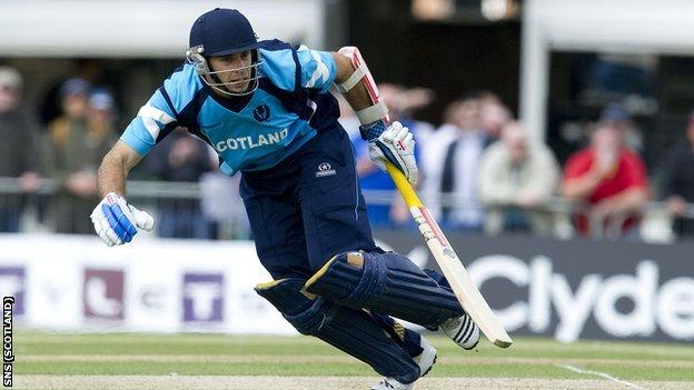 Kyle Coetzer top-scored for Scotland