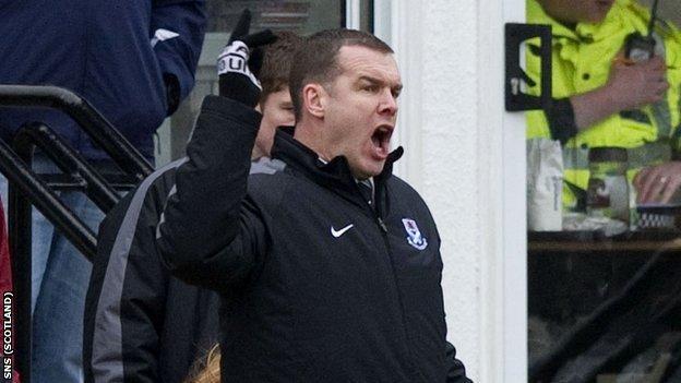 Ayr United manager Brian Reid