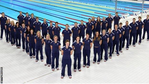 Team GB's swimming squad