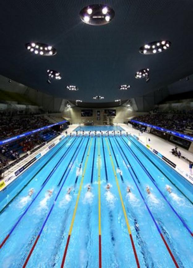 Olympic swimming venue, London