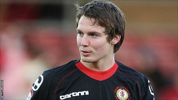 Crewe Alexandra striker Nick Powell