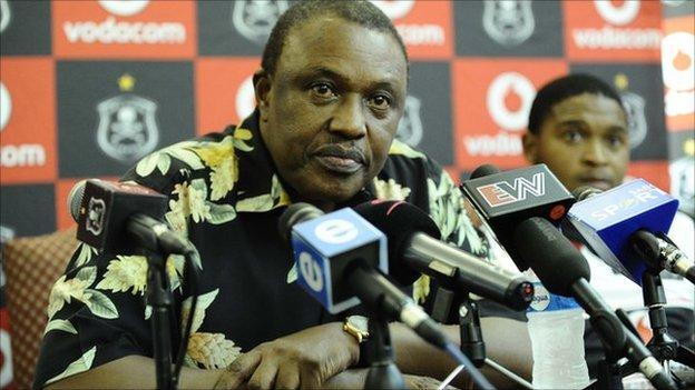Orlando Pirates chairman Irvin Khoza