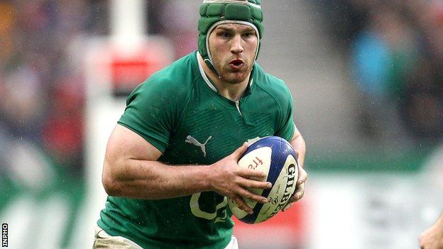 Sean O'Brien missed the win over Scotland because of a skin infection on his foot