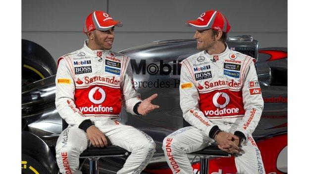 McLaren drivers Lewis Hamilton and Jenson Button