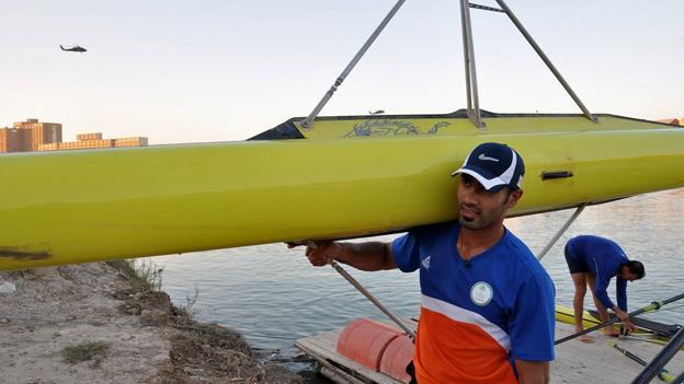 Haider Rashid and Hamza Hussein, Iraq's Olympic rowers