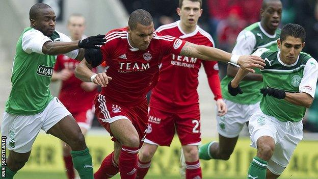 Aberdeen and Hibs will meet for a place in the Scottish Cup final