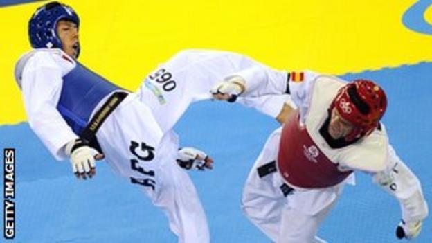 Rohullah Nikpai in action at the Beijing Olympics