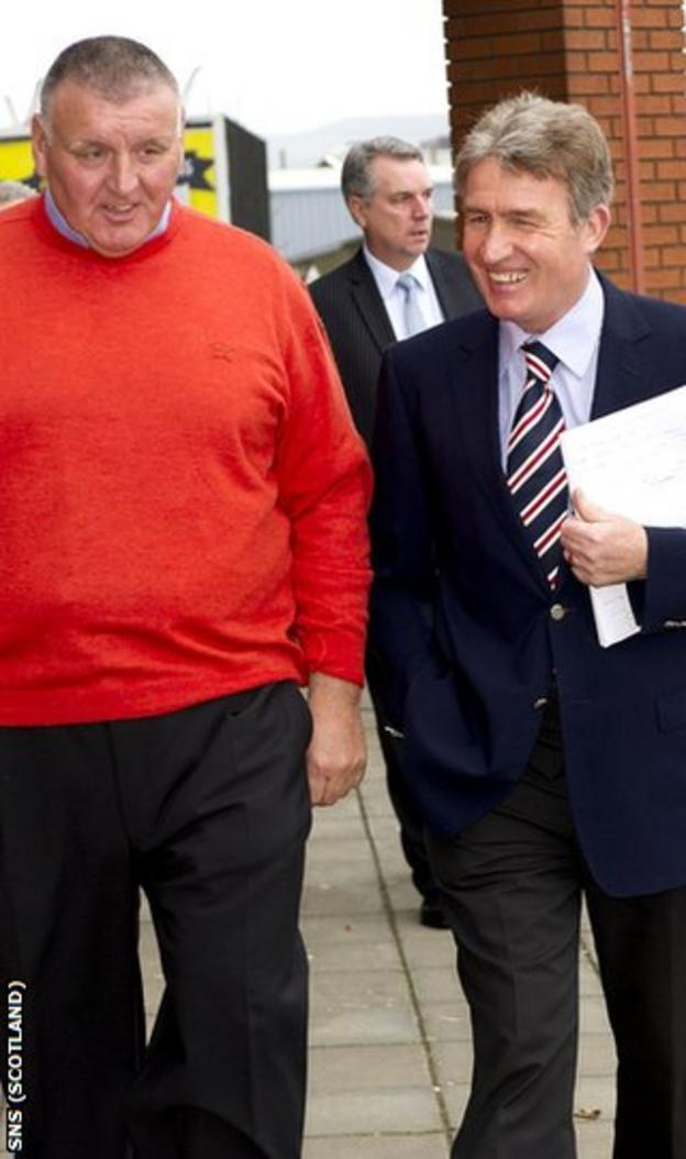 Jardine (right) is on the committee that will direct funds to Rangers