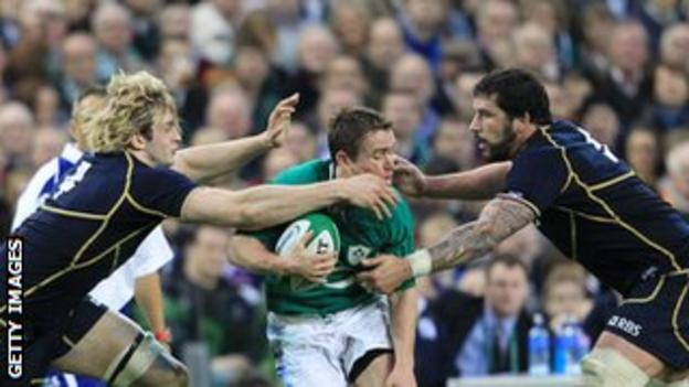 Richie Gray and Jim Hamilton continue in the second row for Scotland