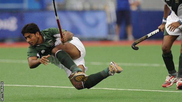 Pakistani hockey players