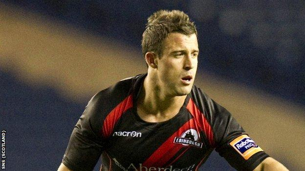 Edinburgh scrum-half Chris Leck
