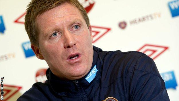 Hearts assistant coach Gary Locke