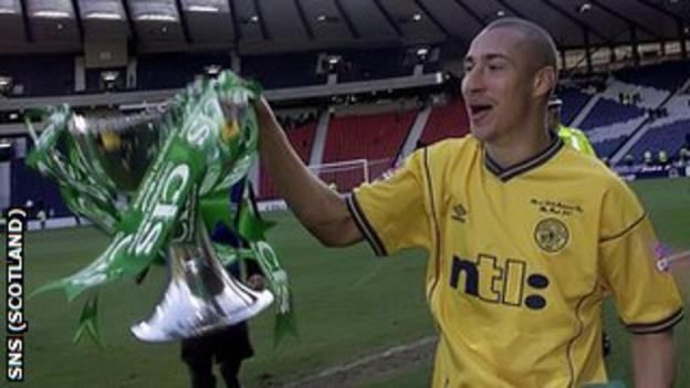 Henrik Larsson downed Kilmarnock with a hat-trick in the 2001 League Cup final