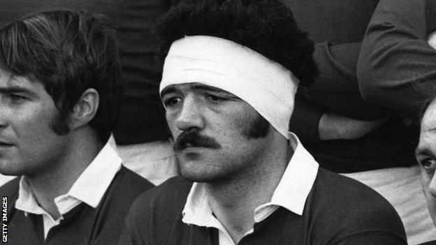 Mervyn Davies played 38 times for Wales and eight times for the Lions