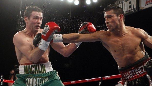 Matthew Macklin is punched by Sergio Martinez