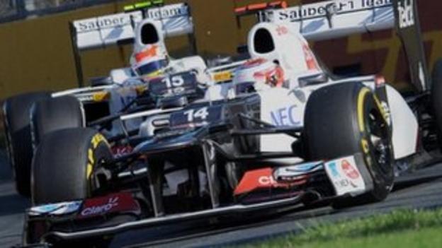 Sauber, Australian GP, 2012